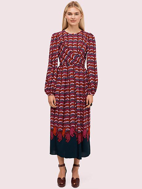 Kate Spade Rawr Crepe Midi Dress