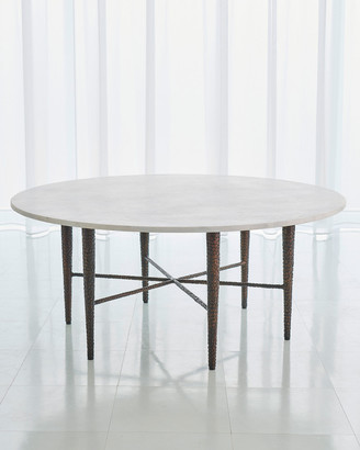 Global Views Hammered Bronze Coffee Table