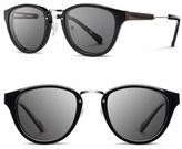 Shwood Women's 'Ainsworth' 49Mm Polarized Sunglasses - Black/ Silver/ Grey Polar