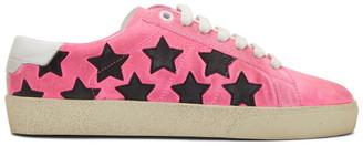 Saint Laurent Pink Suede Court Classic SL/06 Sneakers