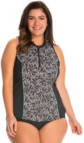 Fit 4 U Fit4U Swimwear Plus Size Twisted Tank Rashguard 8139927