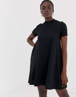 Cheap Monday Mystic a-line t-shirt dress-Black