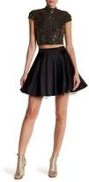 City Triangles Mock Neck Sequin Blouse & Shakira Skirt Set