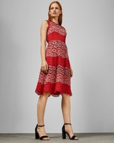 Ted Baker Colour Block Lace Dress