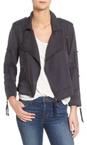 Pam & Gela Women's Patch Twill Moto Jacket