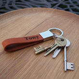 NV London Calcutta Personalised Leather Key Ring