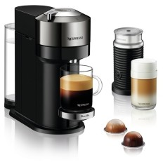 Nespresso Vertuo Next Deluxe Coffee and Espresso Maker by Breville, Dark Chrome with Aeroccino Milk Frother