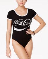 Hybrid Juniors' Coca-Cola Contrast-Trim Bodysuit
