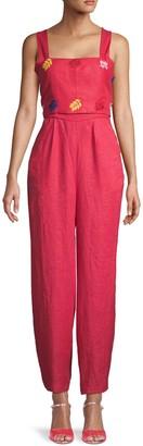Carolina K. Bow Linen Jumpsuit