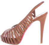 Christian Louboutin Leather Caged Sandals