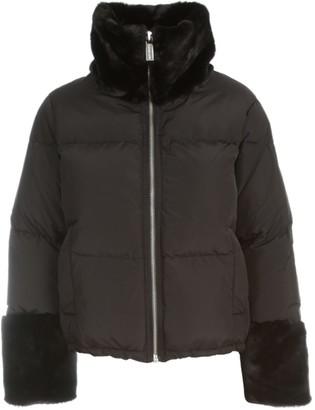 MICHAEL Michael Kors Short Padded Jacket Faux Fur Neck
