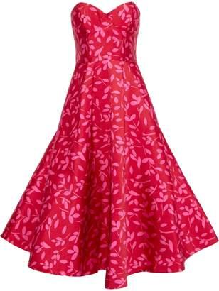 Sachin + Babi Bisate Strapless Printed Satin-twill Gown