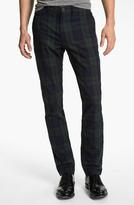 Just A Cheap Shirt Tartan Plaid Slim Straight Leg Chinos