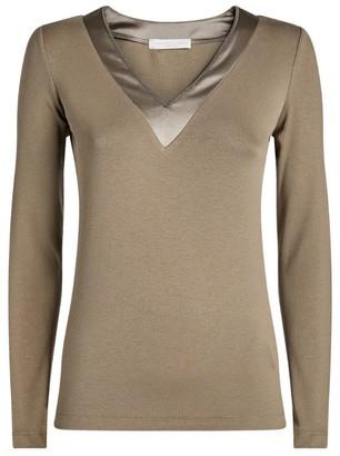 Fabiana Filippi Silk-Trim Long-Sleeved Top