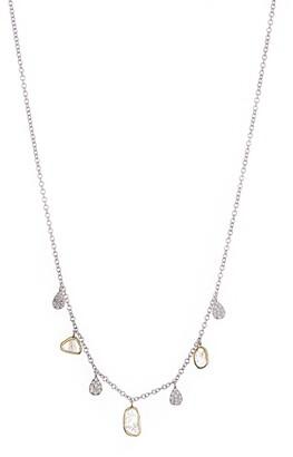 Meira T 14K White Gold Pave Diamond Fringe Necklace