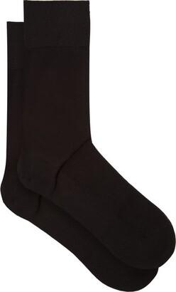 Falke N9 Cotton Blend Socks - Mens - Black