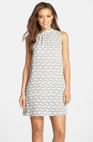 BB Dakota Women's Print High Neck Shift Dress