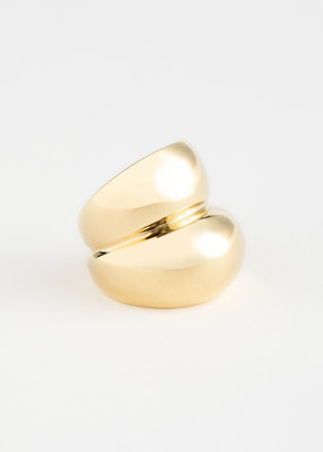 And other stories Duo Sphere Chunky Ring