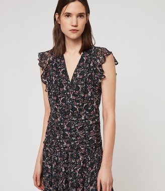 AllSaints Caris Sketch Dress