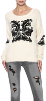 Molly Bracken Cream Fuzzy Sweater