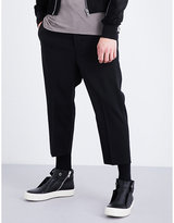 Rick Owens Dropped-crotch stretch-wool trousers