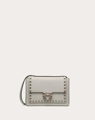 Valentino Small Rockstud Calfskin Crossbody Bag Women Optic White 100% Pelle Di Vitello - Bos Taurus OneSize