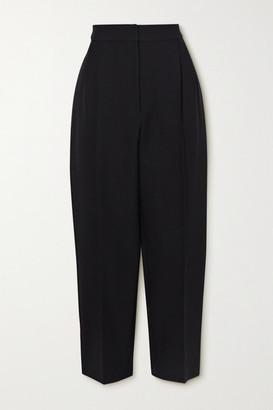 Alexander McQueen Cropped Wool-blend Tapered Pants - Black