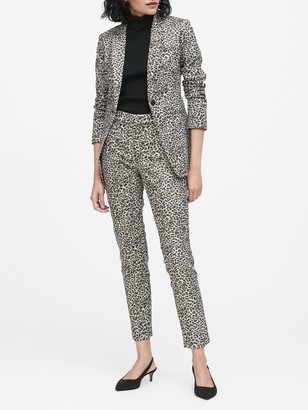 Banana Republic Long and Lean-Fit Metallic Leopard Blazer