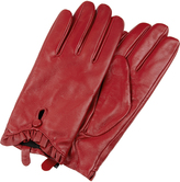 Accessorize Ruffle Leather Gloves