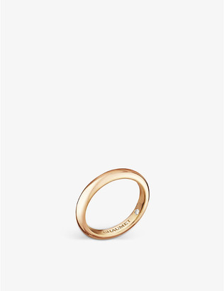 Chaumet Women's Fidelite 18ct Yellow-Gold Diamond Wedding Band, Size: 51mm