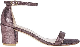 Stuart Weitzman Metallic Strap Sandals