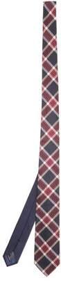 Missoni Checked Woven Silk Tie - Mens - Blue Multi