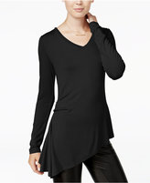 Bar III Asymmetrical V-Neck Top, Only at Macy's