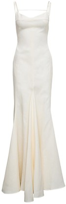 Jacquemus La Robe Camargue Linen Long Dress
