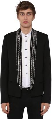 Balmain Embellished Collar Wool Jacket