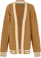 Paura oversized cable-knit cardigan