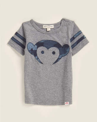 Appaman Newborn/Infant Boys) Light Grey Heather Sandlot Logo Tee