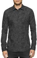 Calvin Klein Jeans Point Collar Botanical Camo Print Shirt