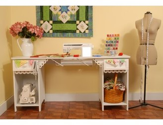 Arrow Sewing Cabinets Olivia Sewing Table Color: Crisp White