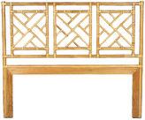David Francis Furniture Chippendale Headboard, Bamboo