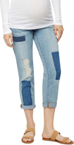 A Pea in the Pod Luxe Essentials Denim Secret Fit Belly Patchwork Maternity Boyfriend Jeans