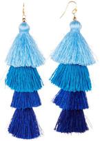 Taolei Ombre Four Tier Tassel Earrings
