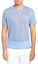 Zachary Prell Men's Carpel Stripe Linen Knit Henley