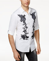 INC International Concepts Anna Sui x Men's Floral Embroidered Utility Shirt, Created for Macy's