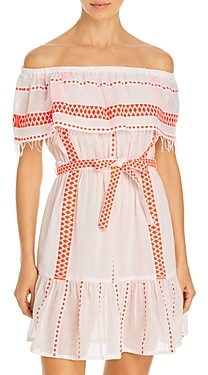 Lemlem Jemari Off the Shoulder Ruffle Dress