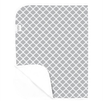 Kushies Flannel Changing Pad - Grey Lattice