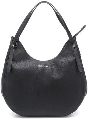 Calvin Klein Logo-Print Hobo Bag