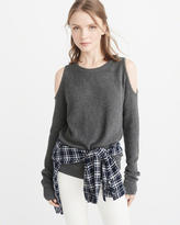 Abercrombie & Fitch Cold-Shoulder Sweater