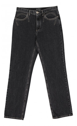 Chanel Charcoal Cotton Jeans