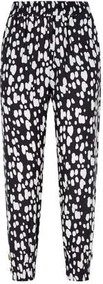 Mother of Pearl Cuffed Printed Trousers